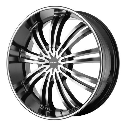 "Kmx Wheels Km682 Gloss Black Wheel With Machined Face (20X8.5""/5X5"")"