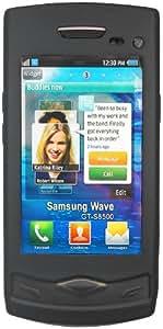 mumbi Silicon Case Samsung S8500 Wave Tasche Hülle - schwarz