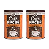 2 Pack - Fireside Coffee Café Mocha Instant Flavored Coffee 8 oz. Pumpkin Spice Canister