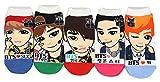 Women's Kpop BTS Socks (5 Pack) Sock size 9-11, fits shoe 6-9
