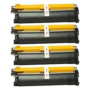 Amsahr 1710517-005 Minolta 1710517-005, 2300 Remanufactured Replacement Toner Cartridge with Four Black Cartridges