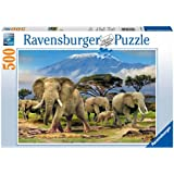 Elephants Jigsaw Puzzle, 500-Piece