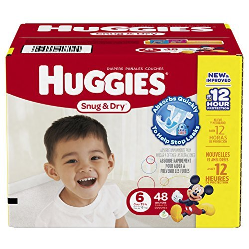 Huggies Snug & Dry Disney Baby Stage 6 Diapers (Over 35 lb) 48 CT (Pack of 1)