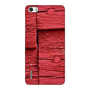 Nailed Red Wood Designer Back Case Cover for Honor 6