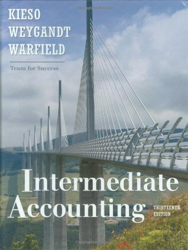 By Donald E. Kieso, Jerry J. Weygandt, Terry D. Warfield: Intermediate Accounting Thirteenth (13th) Edition ( Hardcover )
