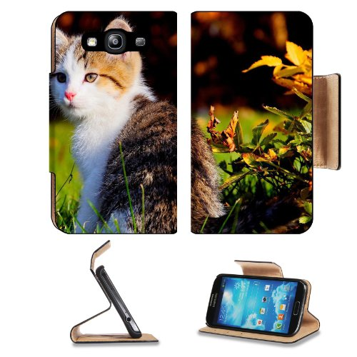 Kitten Field Cute Grass Flower Cat Animal Pet Samsung Galaxy S3 I9300 Flip Cover Case With Card Holder Customized Made To Order Support Ready Premium Deluxe Pu Leather 5 Inch (132Mm) X 2 11/16 Inch (68Mm) X 9/16 Inch (14Mm) Luxlady S Iii S 3 Professional front-625387