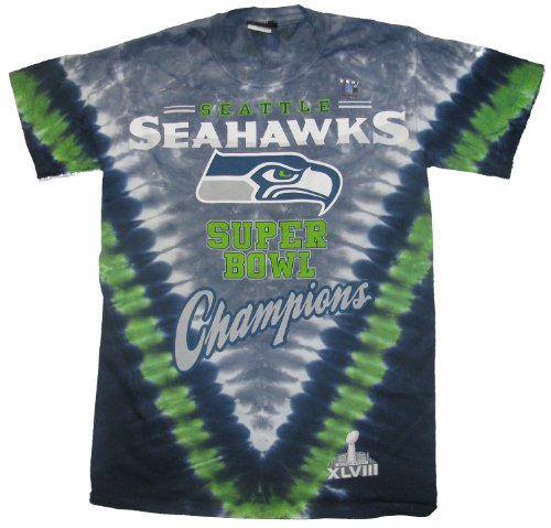 NFL Super Bowl Champion Seattle Seahawks V-dye T-shirt (2X-Large) at Amazon.com