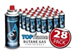 TopFlame 28 Pack Butane Gas Canisters