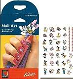 Disney Valentine Fun Daisy Duck Minnie Mouse Kiss Licensed Nail Art