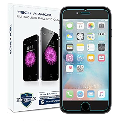 Tech Armor Apple iPhone 6S Plus iPhone 6 Plus 5.5 inch Tempered Glass Screen Protector