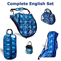 Tomara Equestrian Blue Plaid English Case Set