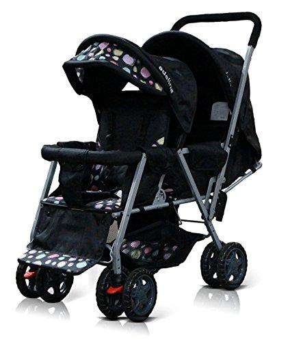 ADELINA-Designer-Double-Stroller-Black
