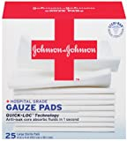 Johnson & Johnson Red Cross Gauze Pads, 4 Inch x 4 Inch, 25 Count (Pack of 2)