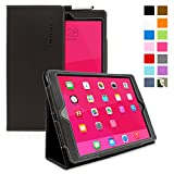 Snugg iPad 5 Smart Cover with Flip Stand and Lifetime Guarantee, Black Leather (B00EYDTA3W)