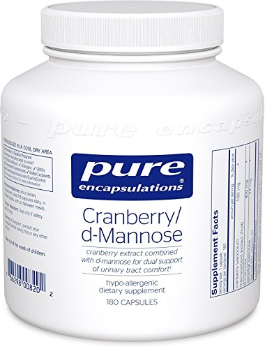 Pure Encapsulations - Cranberry / d-Mannose - Hypoallergenic Supplement to Support Urinary Tract Health* - 180 Capsules (Pure Encapsulations D Mannose compare prices)