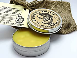 Honest Amish Slick Beard Wax - All Natural and Organic