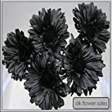 X5 single stem black gerbera artificial silk