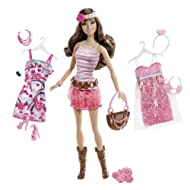 Mattel X2271 Barbie Fashionistas Teresa Ultimate Wardrobe Boho Chic Doll