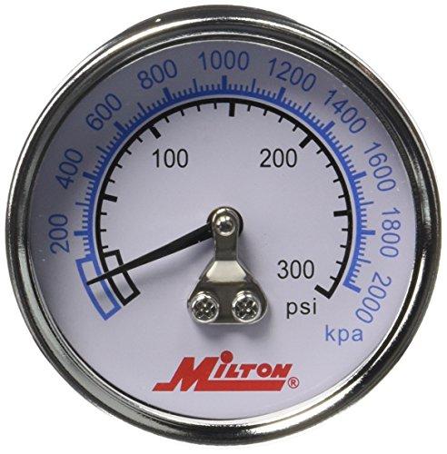 "Milton 1192 1/4"" NPT High Pressure Gage"
