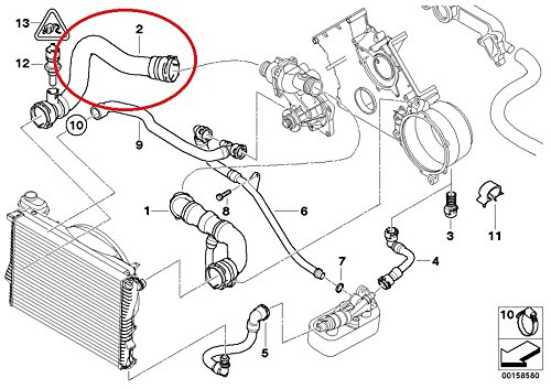 bmw e38 radiator hose