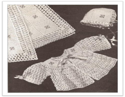 #2060 BABY SET VINTAGE CROCHET PATTERN