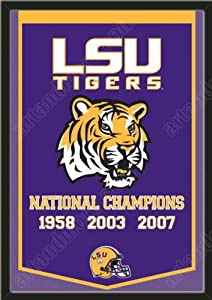 Dynasty Banner Of Louisiana State Tigers-Framed Awesome & Beautiful-Must For A... by Art and More, Davenport, IA