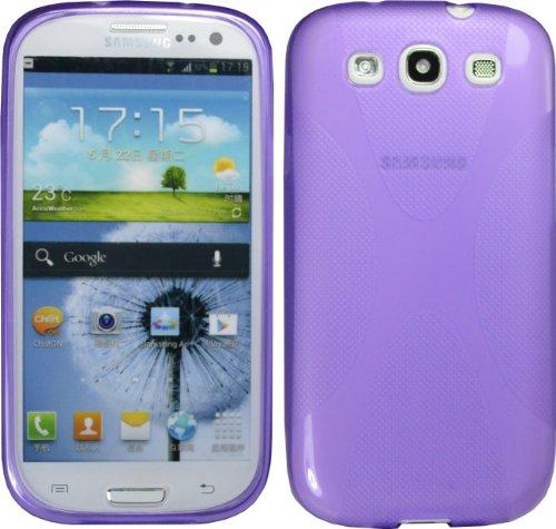 Purple X-Line Tpu Case For Samsung Galaxy S Iii S3 I9300 I535 L710 T999 Cover