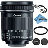Canon EF-S 10-18mm f 4.5-5.6 IS STM Lens Kit Accessory Bundle - International Version