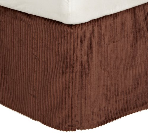 Carters Everyday Easy Velour Dust Ruffle, Chocolate