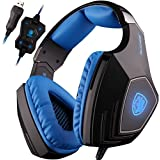 SADES A60 7.1 USB Surround Sound Stereo Over-the-Ear Gaming Headset With Mic Bass Vibration Noise-Canceling Volume...