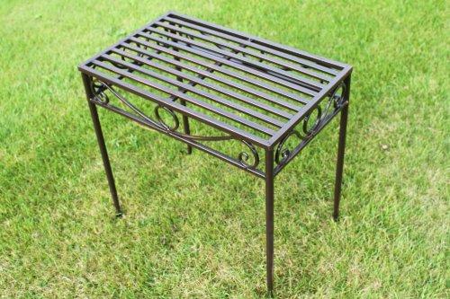 Beistelltisch oder Untergestell aus Metall, im Versailles-Stil, in antiker Bronzeausführung (mittlere Größe) – Ideal für Haus und Garten günstig online kaufen