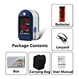 Nubee® NUB-50DL Pulse Oximeter Finger Pulse Blood Oxygen SpO2 Monitor w/ carring case, landyard & Battery FDA CE Approved