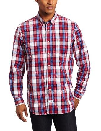(疯抢)Nautica Men's Vineyard Poplin Long-Sleeve 诺帝卡男士长袖衬衫折后$30.91