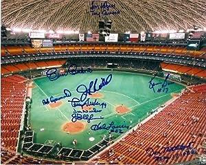 Houston Astros Astrodome photo signed by Cesar Cedeno, Jim Wynn, JR Richard Joe... by Hall+of+Fame+Memorabilia