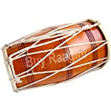 MAHARAJA Dholak (Dholki), Mango Wood, Rope-tuned, Natural-Color (PDI-AJE)