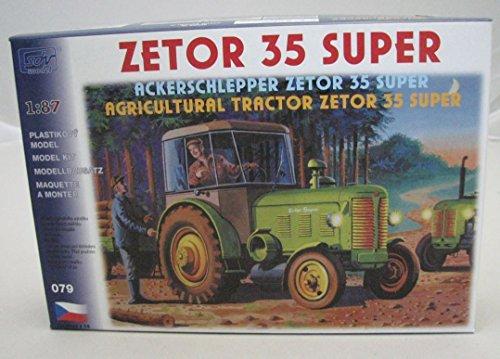 Modellbau-Kunststoff-Modellbausatz-SDV-187-H0-Traktor-Ackerschlepper-Zetor-35-Super-Landwirtschaft-Fahrzeuge-Ostblock-DDR