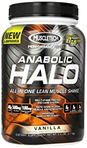 Muscletech Halo All In One Diet Supplements, Vanilla, 2.4 Pound