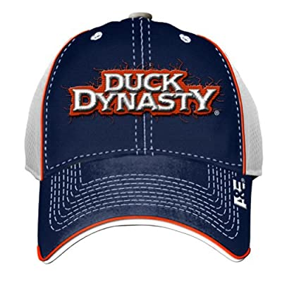 Duck Dynasty Pipped Navy White Hat Cap One Size
