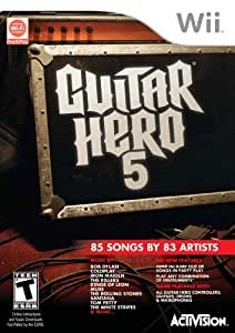 Guitar Hero 5 Stand Alone Software  (Bilingual game-play) - Wii Standard Edition