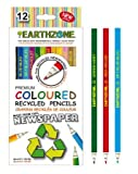 Earthzone Special Edition Premium Colored Recycled Pencils (12 Pack)
