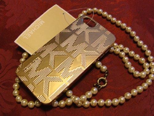 Michael Kors Mk Embossed Metallic Gold Iphone