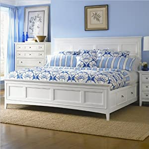 Magnussen kentwood panel bed with storage in for Bedroom furniture amazon