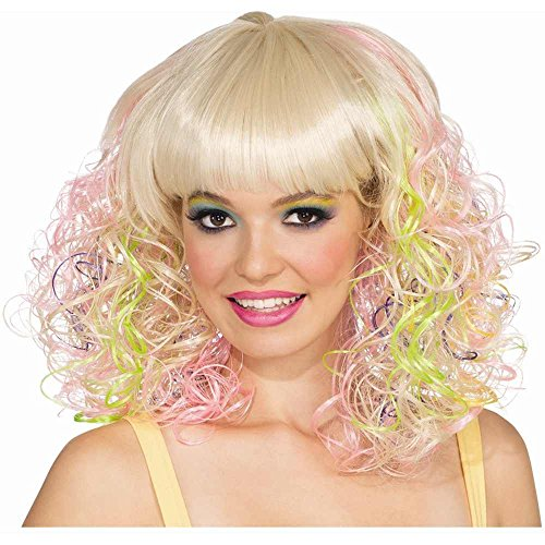 Rubie's Costume Blond and Pastel Curly Wig, Multicolor, One Size