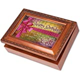 Cottage Garden Happy Birthday Woodgrain Music Musical Jewelry Box Plays Happy Birthday