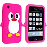 SKS Distribution® Cool Apple iPhone 3 3G 3GS HOT PINK Penguin Style Case Cover