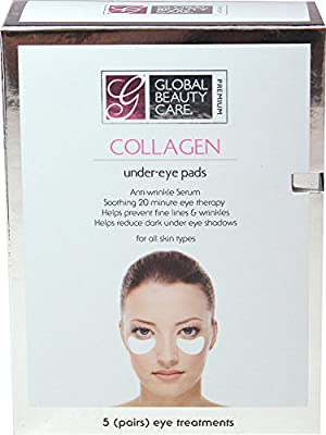 Global Beauty Care Premium Collagen Under Eye Pads-5 Pair Box