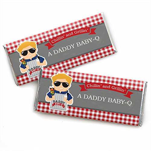 Big Dot Of Happiness - Daddy Baby-Q - Caucasian Blond - Candy Bar Wrapper Man Shower Favors front-247922