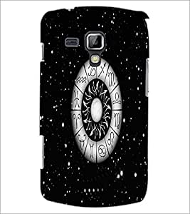 PrintDhaba Zodiac Wheel D-4812 Back Case Cover for SAMSUNG GALAXY S DUOS S7562 (Multi-Coloured)