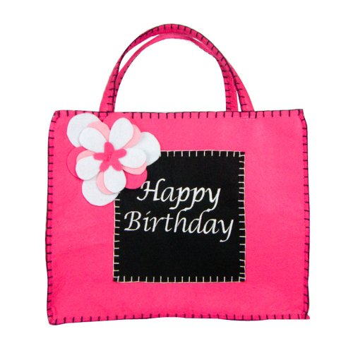 Groovy Holidays Zoe Black and Pink Happy Birthday Bag - 1