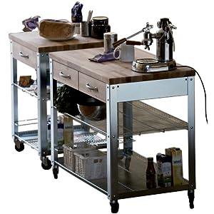 "Kitchen Trolley ""Cook"" in Natur Size: 100 cm W X 60 cm T"